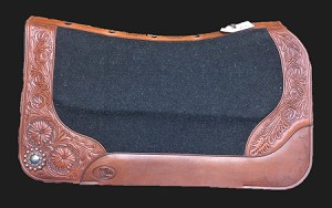 Wade Pad with Floral tooled front and back